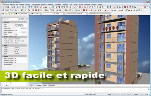 Logiciel architecture 3d bim en dwg intelliplus for Logiciel dessin 3d simple