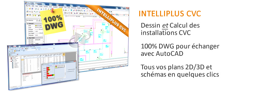 Logiciel Chauffage Ventilation Climatisation IntelliPlus CVC